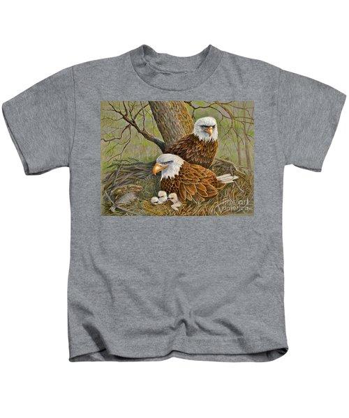 Decorah Eagle Family Kids T-Shirt