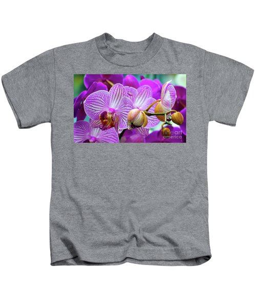 Decorative Fuschia Orchid Still Life Kids T-Shirt
