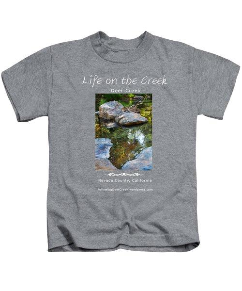 Deer Creek Point - White Text Kids T-Shirt