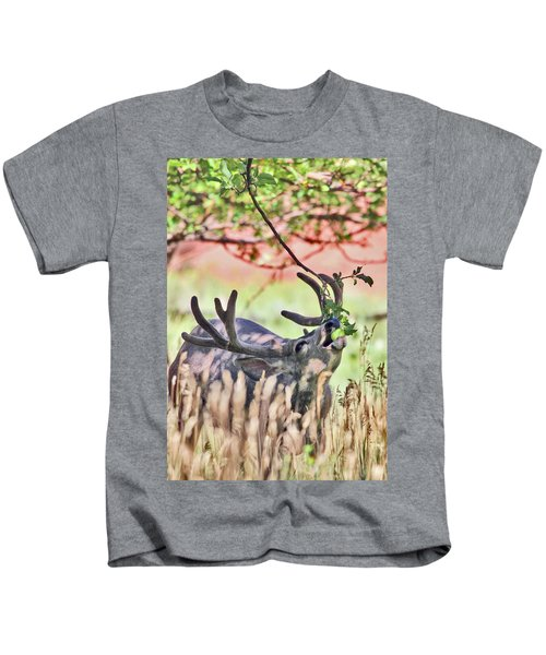 Deer In The Orchard Kids T-Shirt