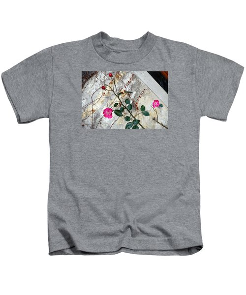Delicate Rose In December Kids T-Shirt