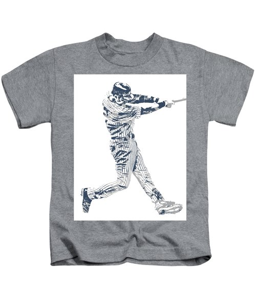 Derek Jeter New York Yankees Pixel Art 10 Kids T-Shirt