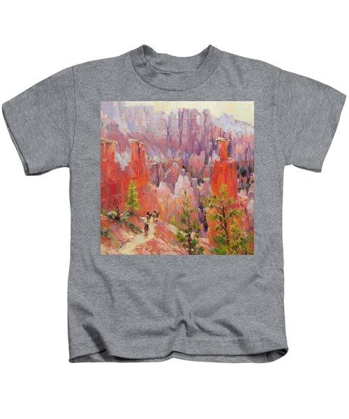 Descent Into Bryce Kids T-Shirt