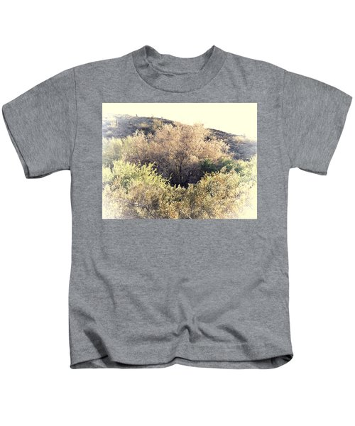 Kids T-Shirt featuring the photograph Desert Ironwood Afternoon by Judy Kennedy