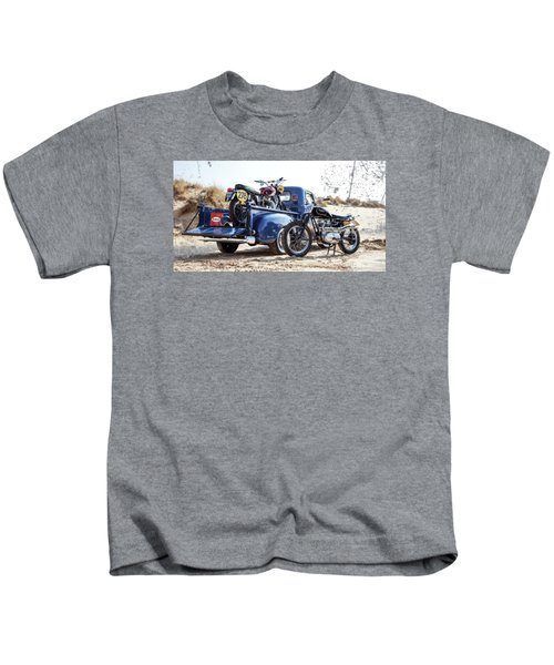 Desert Racing Kids T-Shirt by Mark Rogan