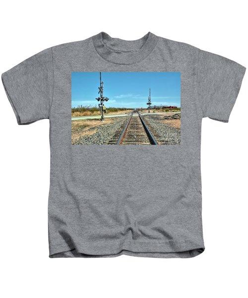 Desert Railway Crossing Kids T-Shirt