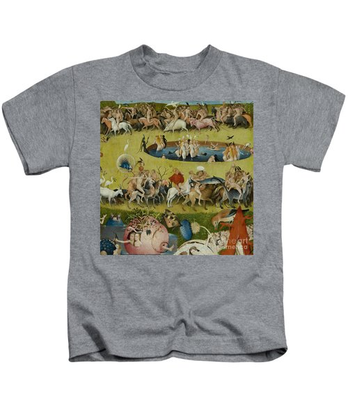 Detail From The Central Panel Of The Garden Of Earthly Delights Kids T-Shirt by Hieronymus Bosch