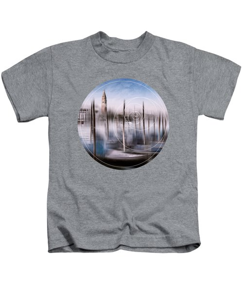 Digital-art Venice Grand Canal And St Mark's Campanile Kids T-Shirt