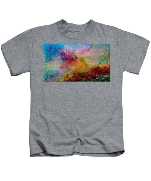 1a Abstract Expressionism Digital Painting Kids T-Shirt