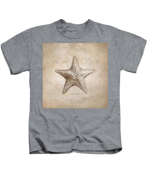 Distressed Antique Nautical Starfish Kids T-Shirt