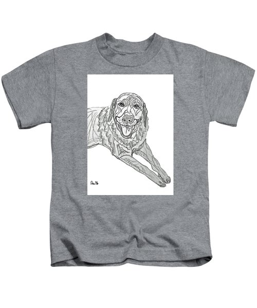 Dog Sketch In Charcoal 9 Kids T-Shirt
