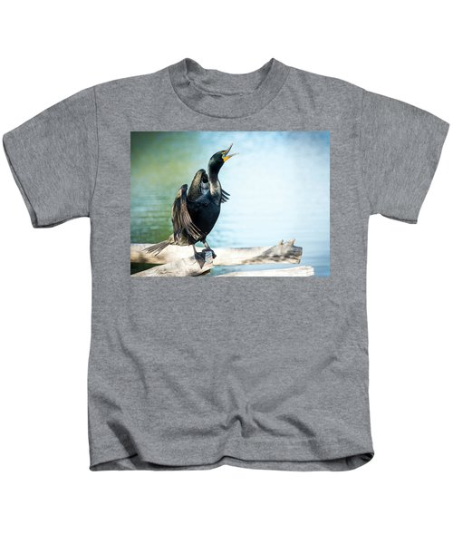 Double-crested Cormorant Kids T-Shirt