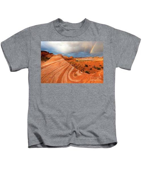 Double Desert Rainbow Kids T-Shirt