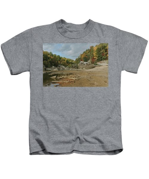 Downstream From Cumberland Falls Kids T-Shirt