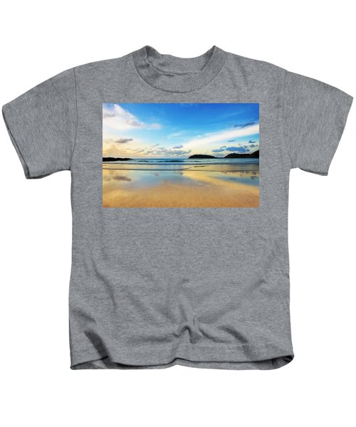 Dramatic Scene Of Sunset On The Beach Kids T-Shirt