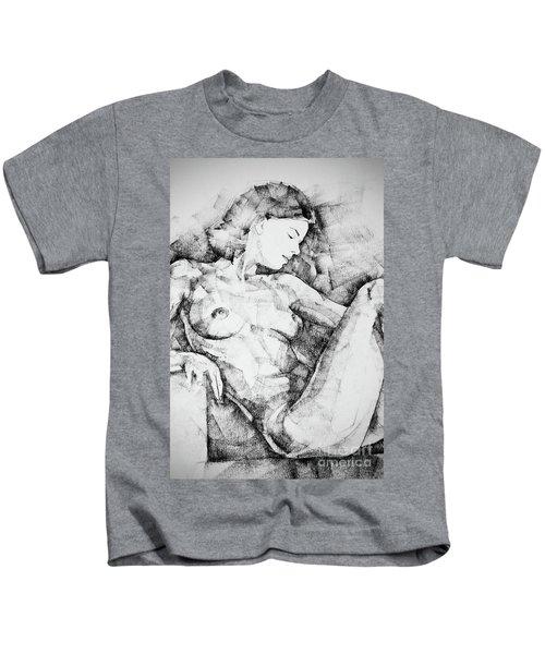 Drawing Beautiful Girl Figure Kids T-Shirt