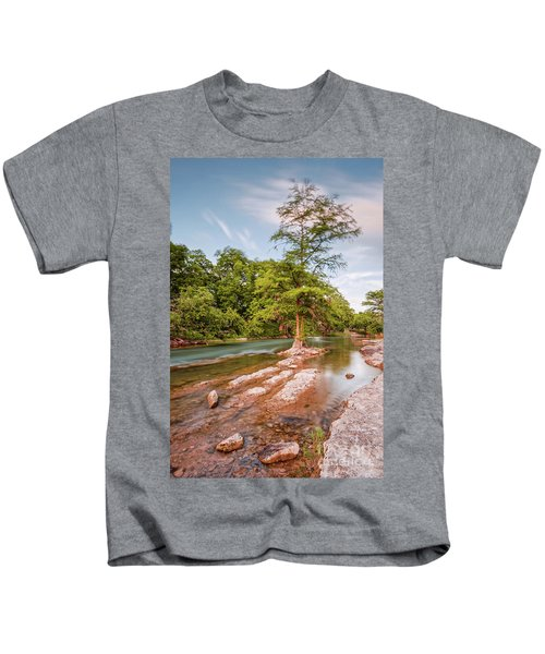Dreamy Bald Cypress At Guadalupe River - Canyon Lake Texas Hill Country Kids T-Shirt