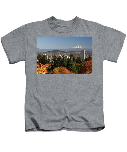 Dressed In Fall Colors Kids T-Shirt