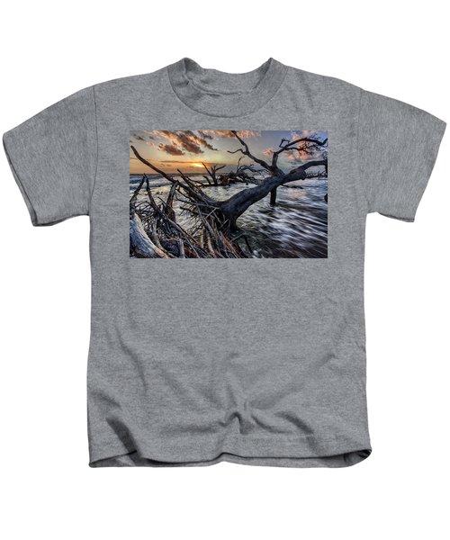 Driftwood Beach 5 Kids T-Shirt