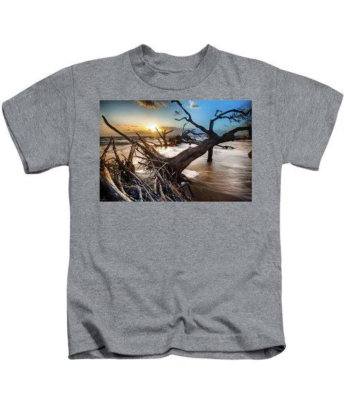 Driftwood Beach 7 Kids T-Shirt