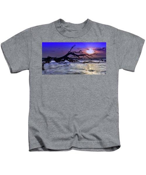 Driftwood Beach 9 Kids T-Shirt