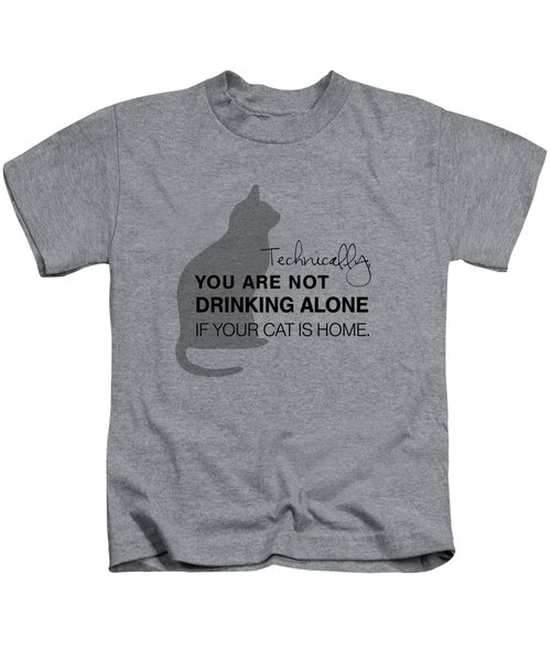 Drinking With Cats Kids T-Shirt by Nancy Ingersoll