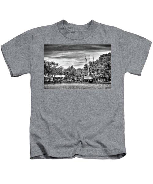 Dry Dock - St. Helena Shrimp Boat Kids T-Shirt