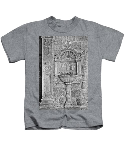 Dubrovnik Wall Art - Black And White Kids T-Shirt