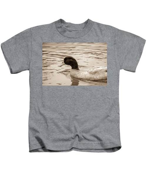 Duck In Pond Kids T-Shirt