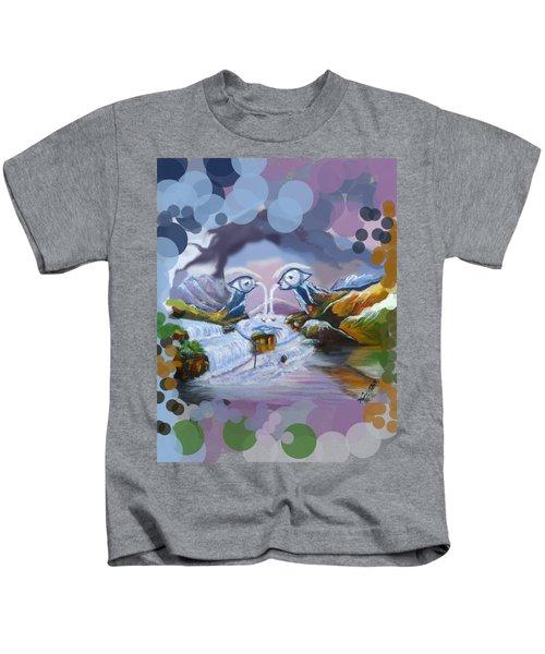 Duck Mountain Waterfall Kids T-Shirt