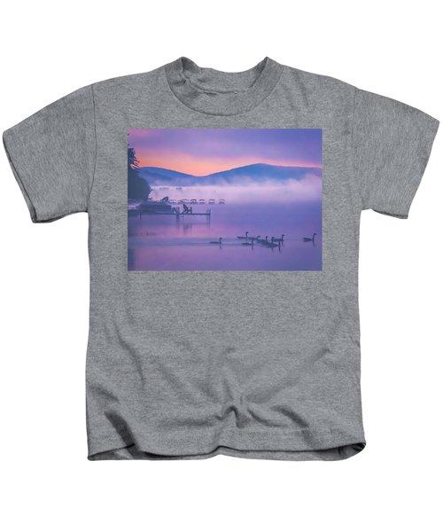 Ducks Under Fog Kids T-Shirt