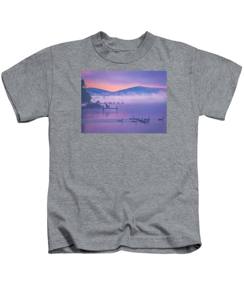 Ducks Under Fog Kids T-Shirt