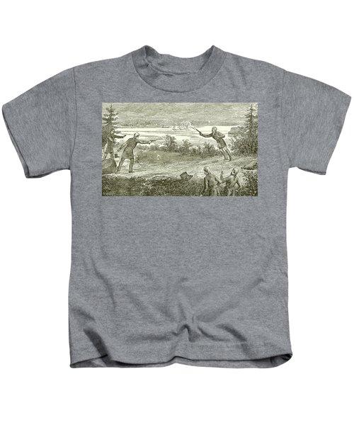 Duel Between Alexander Hamilton And Aaron Burr Kids T-Shirt
