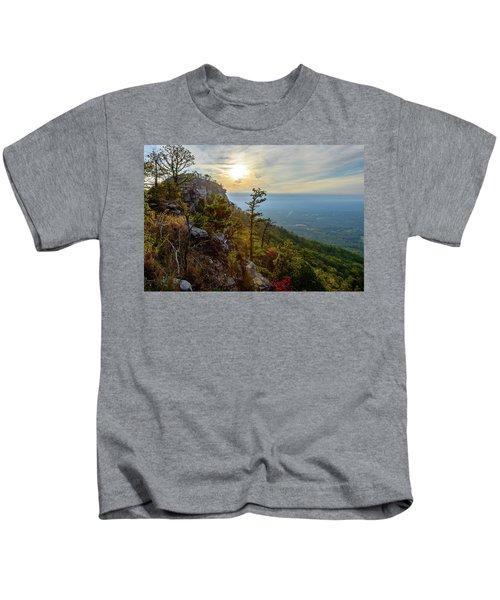 Early Autumn On Pilot Mountain Kids T-Shirt