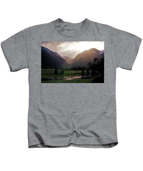 Early Evening Light In The Valley Kids T-Shirt