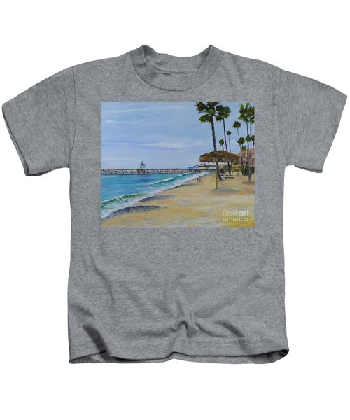 Early Morning On The Beach Kids T-Shirt