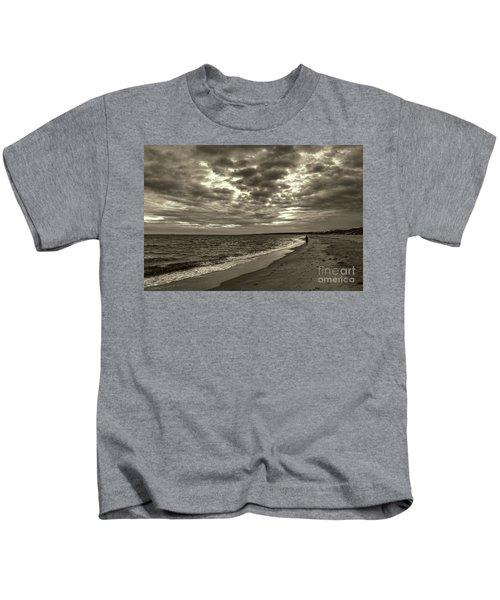 Early Morning Walk On Virginia Beach Kids T-Shirt