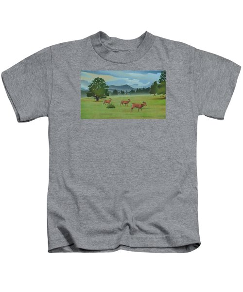 Early Spring Evergreen Kids T-Shirt