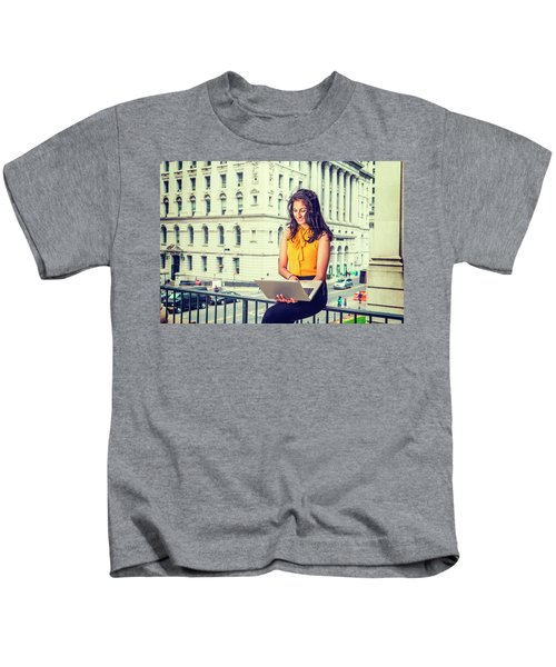 East Indian American Businesswoman In New York Kids T-Shirt