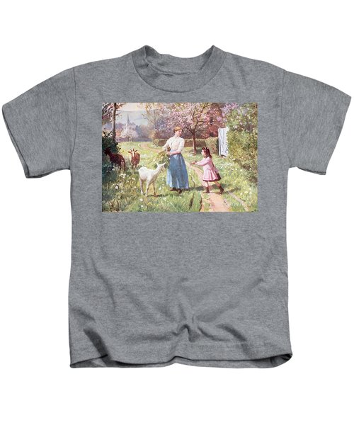 Easter Eggs In The Country Kids T-Shirt