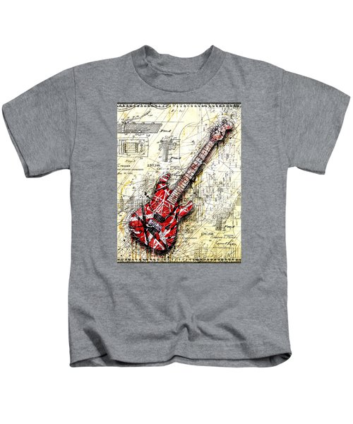 Eddie's Guitar 3 Kids T-Shirt by Gary Bodnar