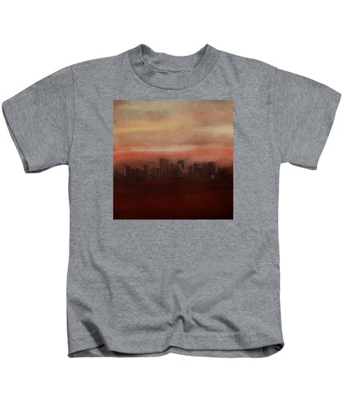 Edmonton At Sunset Kids T-Shirt