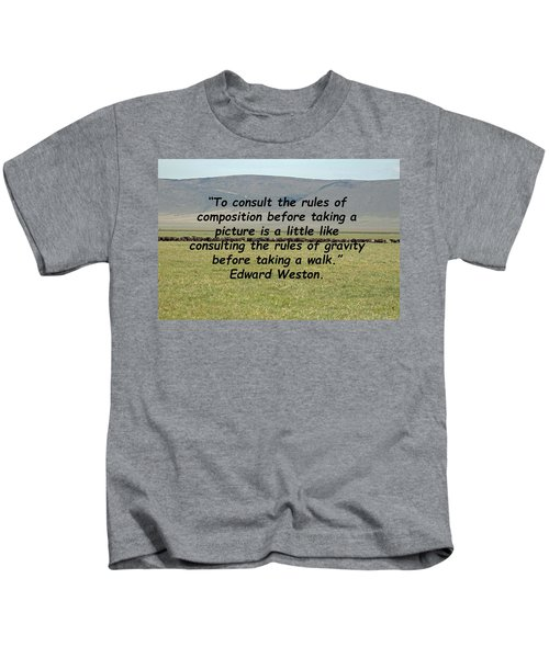Edward Weston Quote Kids T-Shirt