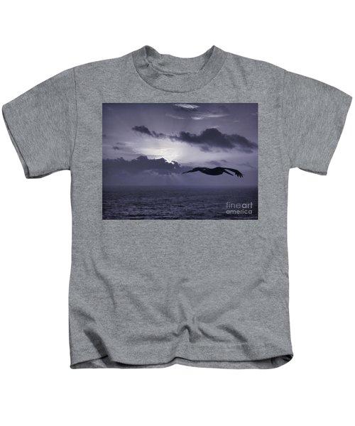 Pelican At Sunrise Kids T-Shirt