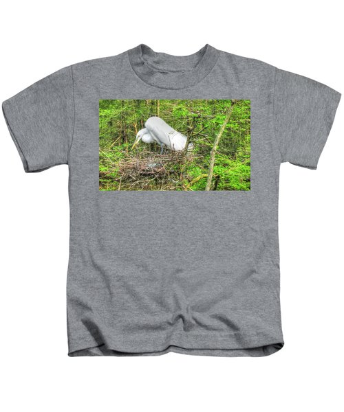 Egrets And Eggs Kids T-Shirt