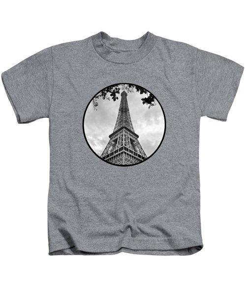 Eiffel Tower - Transparent Kids T-Shirt