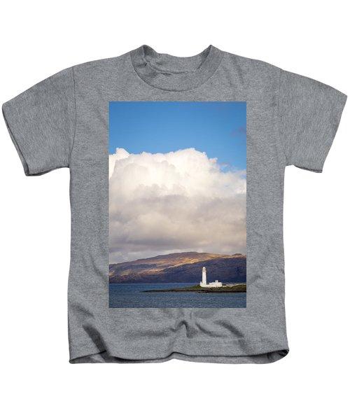 Eilean Musdile Lighthouse On Lismore Kids T-Shirt