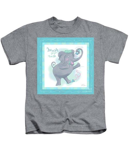 Elephant Bath Time Brush Your Tusk Kids T-Shirt