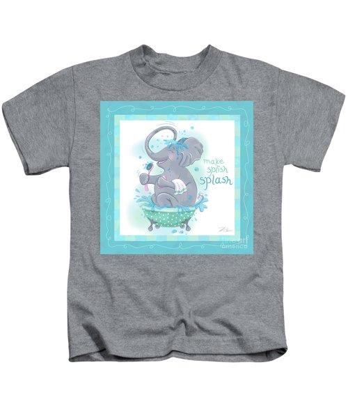 Elephant Bath Time Splish Splash Kids T-Shirt