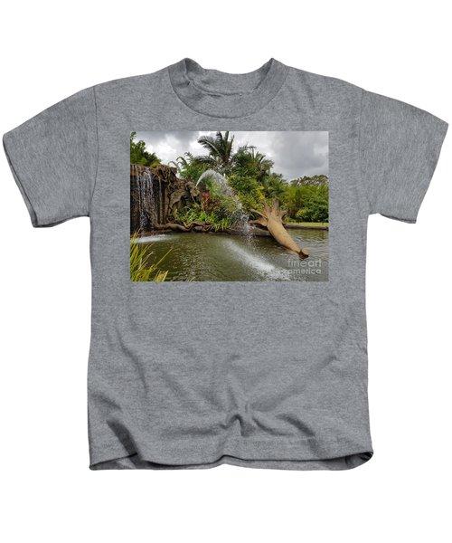 Elephant Waterfall Kids T-Shirt